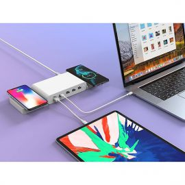Sạc Đa Cổng Macbook HyperJuice Ultimate Charge 110W Dual Wireless Charger 15W