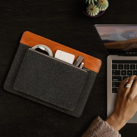 Túi chống sốc Tomtoc Felt & Pu Leather For Macbook PRO/AIR 13